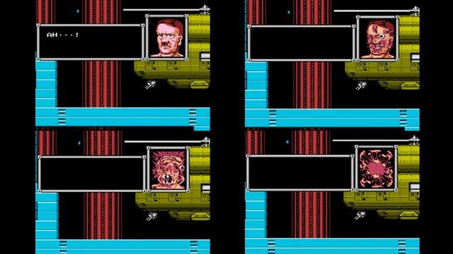 Nur im japanischen Original auf dem NES explodiert der Kopf des Diktators. (Bild von schnittberichte.com)