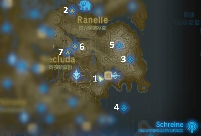 Breath Of The Wild Schreine Karte.Zelda Breath Of The Wild Schreine Hateno Turm Mit Video