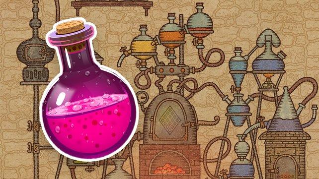 Bei Potion Craft braut ihr magische Tränke für eure Kunden. (Bild: niceplay games / Getty Images – arthobbit)
