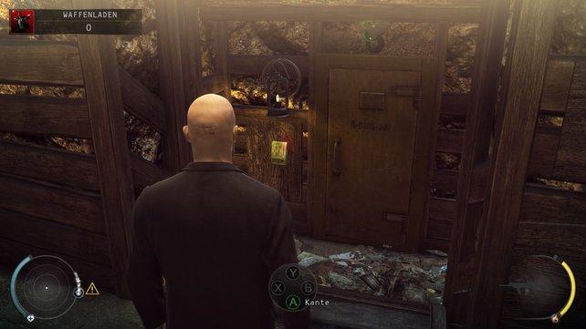 In diesme Bunker unterhalb des Schießstandes findet ihr ebenfalls den Code für den Safe.