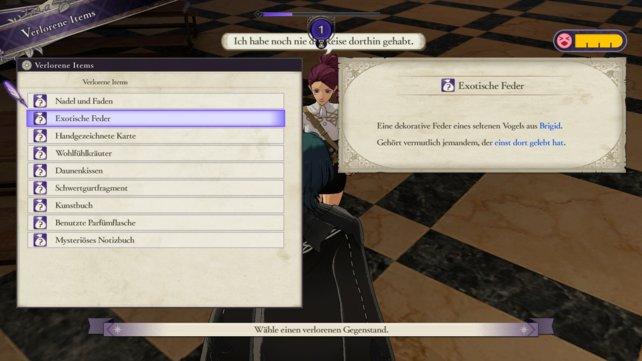 Die blauen Wörter des Beschreibungstexts geben euch einen wertvollen Hinweis darauf, wer der Besitzer des verlorenen Items ist.