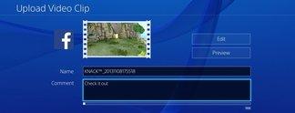 PlayStation 4 | Share-Optionen für Facebook werden entfernt