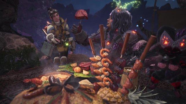 Bei Monster Hunter World müsst ihr immer gut vorbereitet sein - auch auf die Rosa Rathian.
