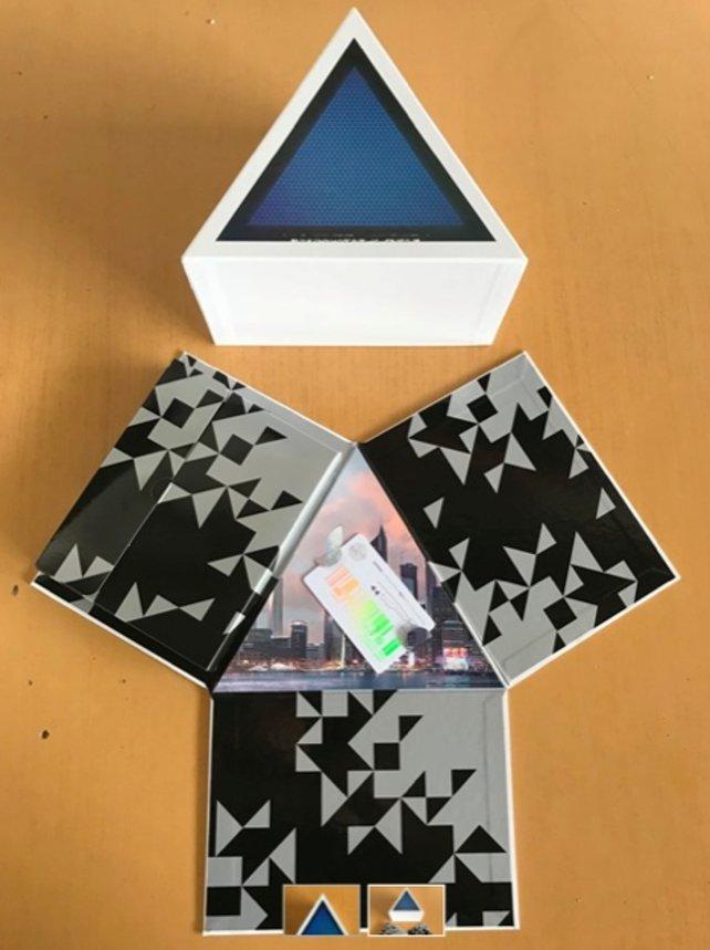 Das futuristisch gestaltete Media-Kit in all seiner Pracht.