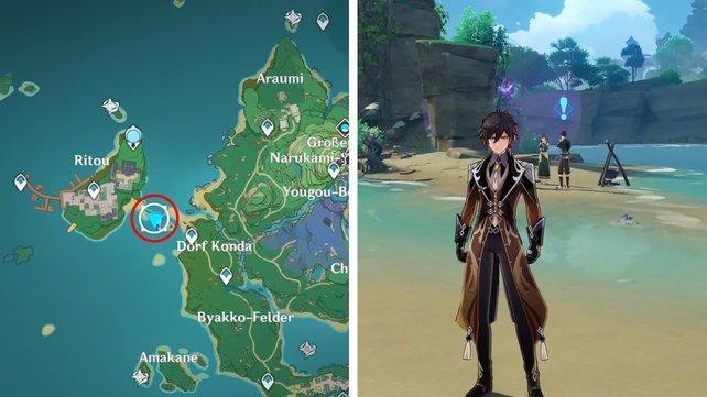 Die Karte zeigt euch den Fundort der ersten Feinschmecker-Quest.