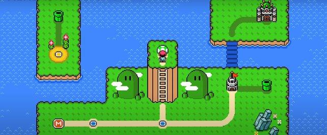 Kreiert euer eigenes kleines Super Mario in Super Mario Maker 2.