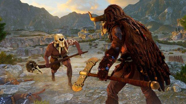 Die Mythischen Einheiten wie der Minotauros oder der Kyklop sind keine übernatürlichen Wesen, sondern besonders starke Menschen.