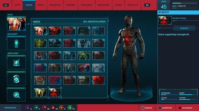 So sieht der Dunkle Anzug in Marvel's Spider-Man aus!