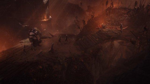 Mit Hilfe der CryEngine gelingt es Wolcen: Lords of Mayhem, euren Kämpfen äußerst stimmige Kulissen zu bieten.