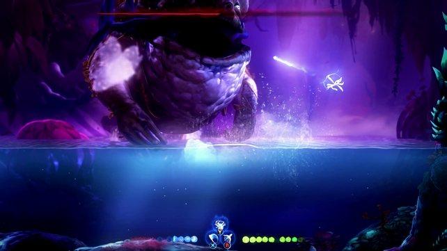 In der zweiten Kampfphase wird die gesamte Arena geflutet.