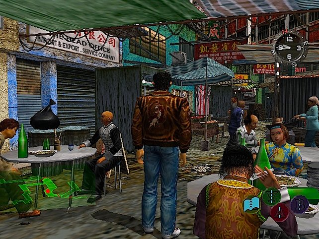Hauptdarsteller Ryo unterwegs im virtuellen Hong Kong.