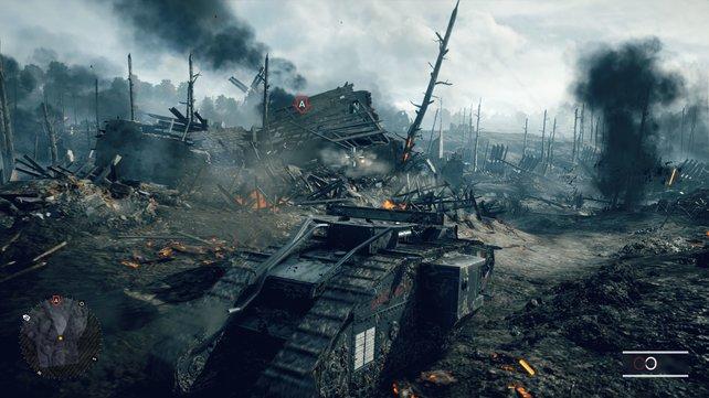 Das Schlachtgeschehen von Battlefield 1 erscheint in 4K noch plastischer.