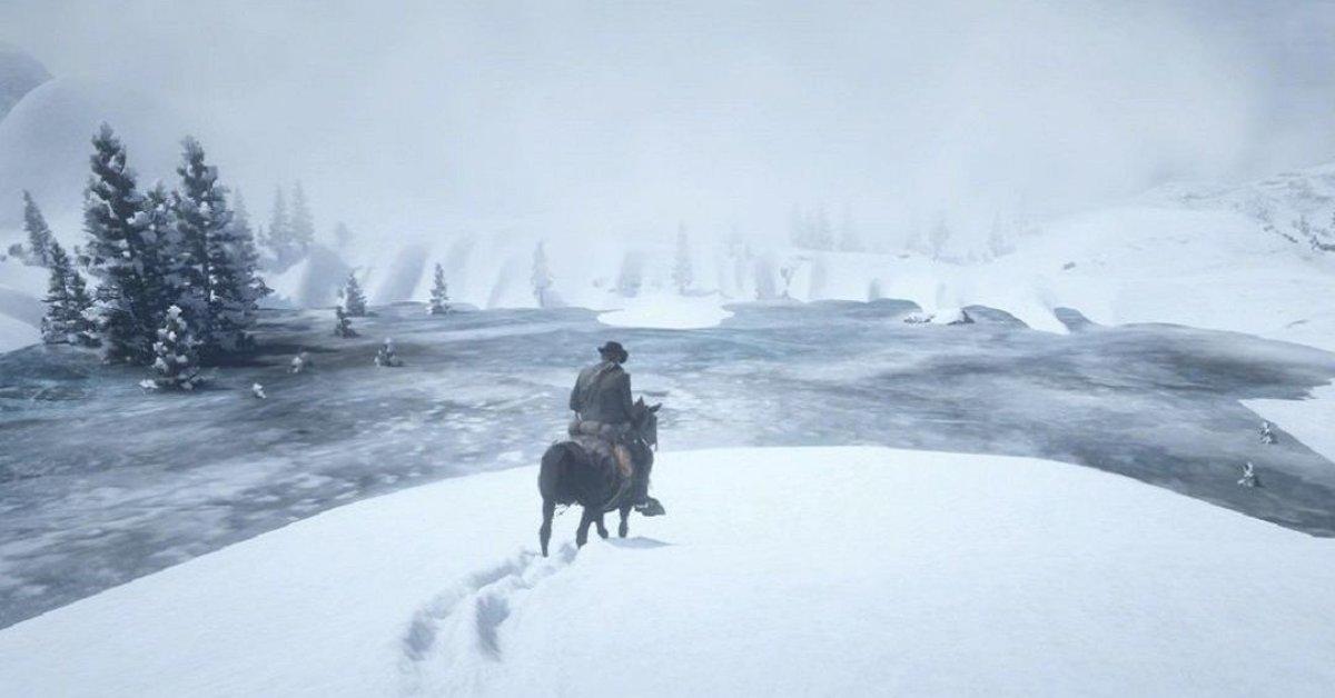 Red Dead Online: Spieler begegnet Geist im Schnee