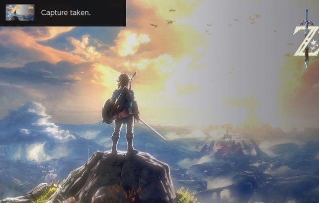 Oben links bekommt ihr sogleich die Meldung auf eurer Nintendo Switch, dass ein Screenshot gemacht wurde.