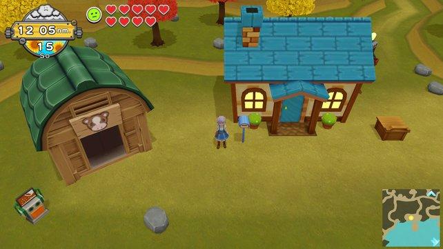 Falls euch der Platz ausgeht, könnt ihr für eure Farm ein größeres Haus und eine größere Scheune kaufen.