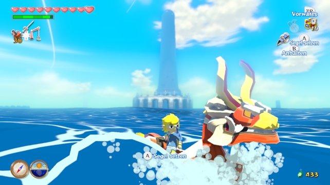 Auf Wii U wirkt The Wind Waker noch comichafter, bunter und schärfer.
