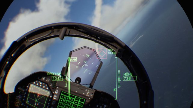 Im VR-Modus gibt es nur die Sicht aus den Augen eines Piloten.