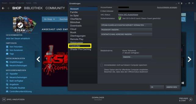 Ihr könnt euren PS5-Controller auch für eure Steam-Spiele nutzen.