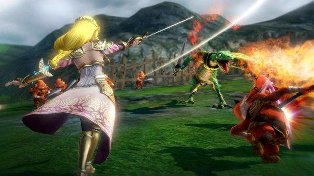 Hier kämpft die Prinzessin noch selbst! Zeldas resolute Art hat für die Feinde Hyrules meist endgültige Folgen.
