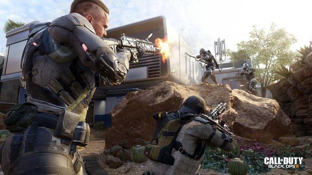 In Call of Duty - Black Ops 3 zieht ihr als futuristischer Supersoldat in den Kampf.