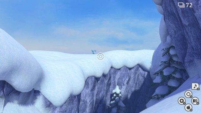 Glaziola im Schneefeld von New Pokémon Snap.