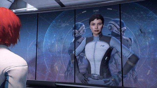 Bei der Infotafel erfahrt ihr im Prolog weitere Hintergründe zur Andromeda-Initiative.