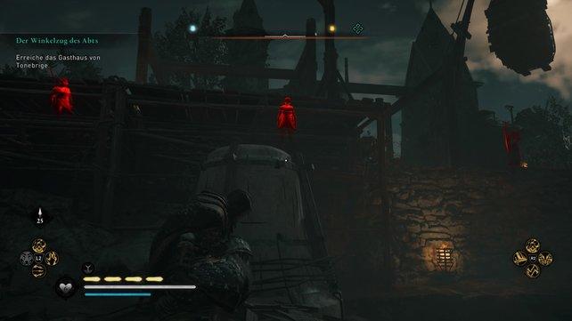 Ihr solltet das Tonebridge-Kloster lieber umgehen, damit ihr euch nicht mit aufmerksamen Soldaten herumschlagen müsst.