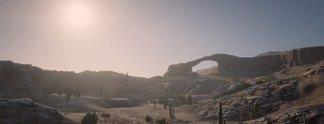 Panorama: Spieler entdecken wunderschönes Land jenseits der Spielgrenze