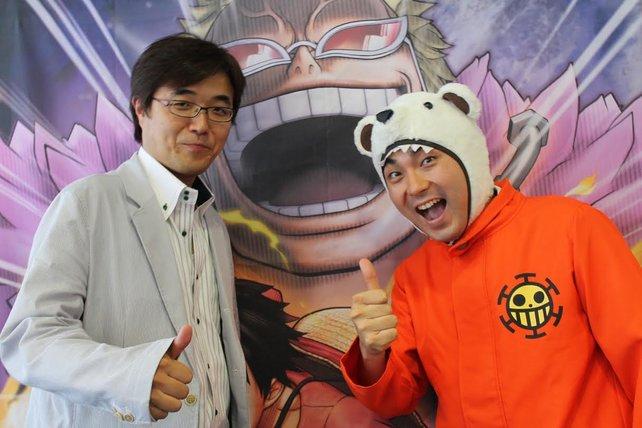 Die Produzenten von One Piece Pirate Warriors 3: Koji Nakajima und Hisashi Koinuma (rechts)