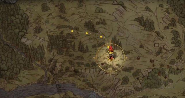 Die Jungfer in Nöten Esther wird in einer kleinen Hütte in diesem Lager gefangen gehalten.