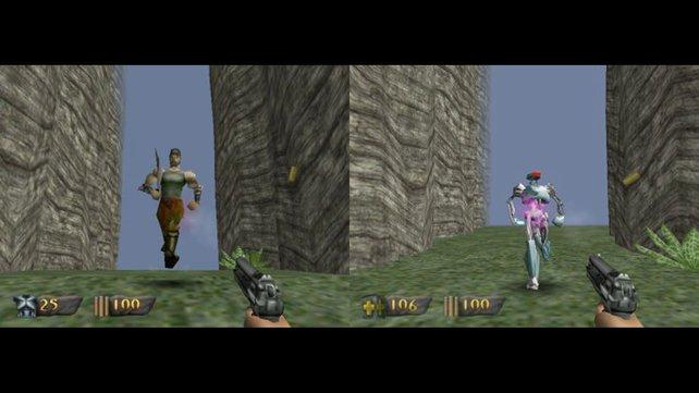 Statt muskulöse Soldaten bekämpft ihr von Anfang an Robotergegner. (Bild von schnittberichte.com)