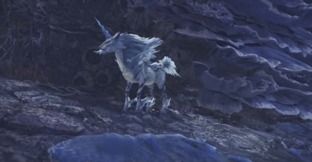 Hübsches Einhorn: Der Drachenälteste namens Kirin in Monster Hunter - World.