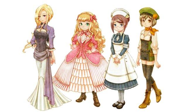Schöne Junggesellinnen: Iris, Elise, Angela und Agate.