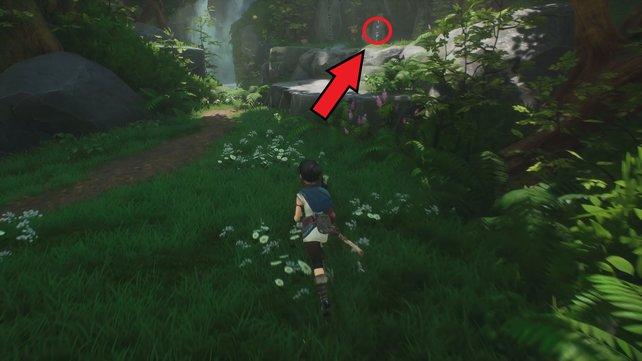 Rechts neben dem Wasserfall findet ihr den zweiten Rott.