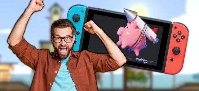 Macht euer Sparschwein glücklich und spart bei ausgewählten Switch-Spielen. (Bildquelle: Nintendo, Getty Images / solarseven, Deagreez)