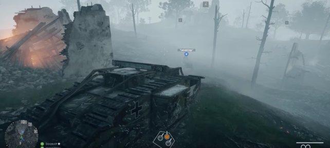 Panzer Mark I im Einsatz.