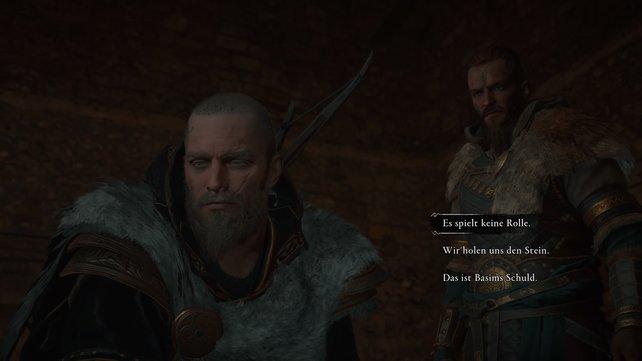 Es gilt nun den aufgebrachten Sigurd zu beruhigen, indem ihr Zuversicht austrahlt und euch auf eure Aufgaben konzentriert.