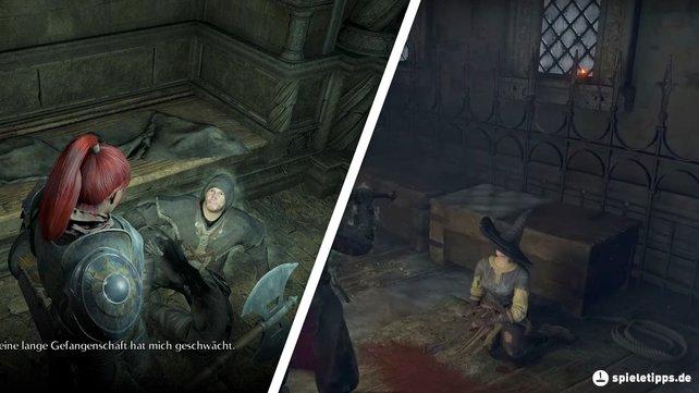 Diese beiden NPCs werden euch gemeinsam mit allen Zaubern versorgen, die es bei Demon's souls (PS5) gibt.
