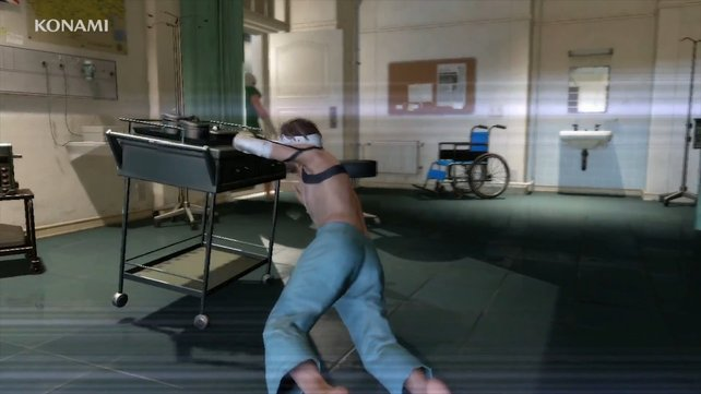 Traurig: Im Prolog von Phantom Pain ist Big Boss ein körperliches Wrack.