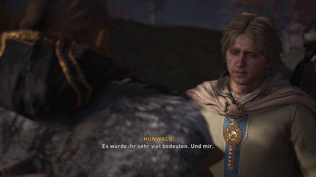 Habt ihr Aelfgar als Aldermann gewählt, möchte sich Hunwald mit seiner angebeteten Svanhild eurer Siedlung anschließen.
