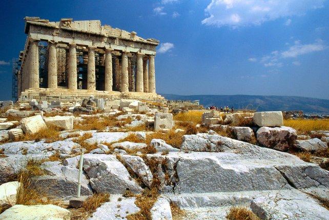 Der Parthenon in Athen.