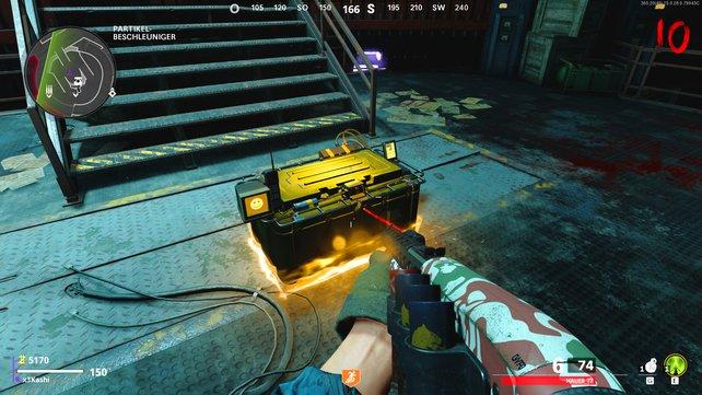 Neben der potenziellen Ray Gun erhaltet ihr auch anderen nützlichen Loot aus der Kiste.
