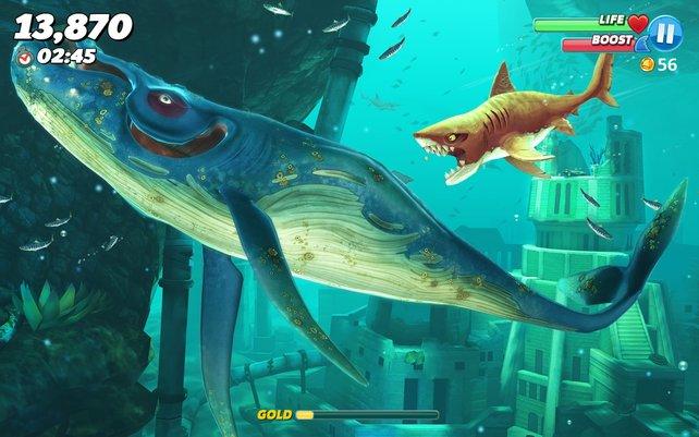 Hungry Shark World: Auf dem Smartphone super, auf der Switch ein Flop.
