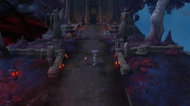"""Die Questgeber-Location für """"Unabhängige Gerechtigkeit"""" in World of Warcraft: Shadowlands"""