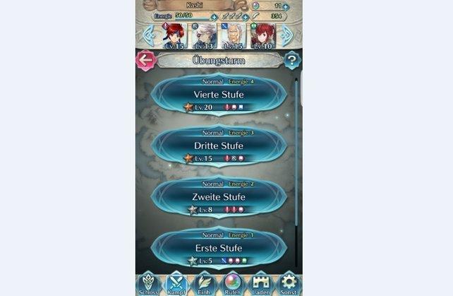 Wir empfehlen euch die Missionen im Übungsturm, wenn ihr in Fire Emblem Heroes schnell leveln wollt.