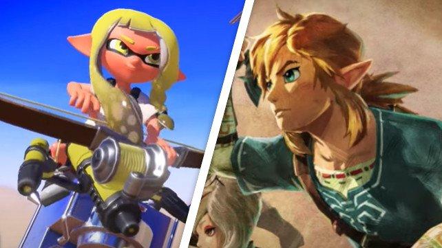 Nintendo gibt Neues zu Splatoon und Zelda bekannt.