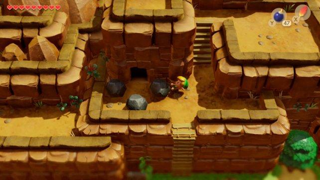 Dieser Höhleneingang führt euch ins Taltal-Gebirge und letztlich zum vierten Dungeon.
