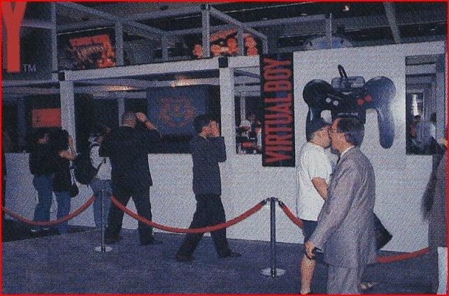 Auch bei der ersten E3-Messe von 1995 führt Nintendo den Virtual Boy vor.