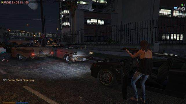 Das Purge-Konzept hat im Videospielbereich bisher nur in Mods für Spiele wie GTA Online Fuß gefasst, die aber strenggenommen nur Deathmatches mit Timer bei Nacht darstellen und das dazugehörige Gesellschaftsmodell nicht thematisieren. Bildquelle: forum.cfx / auri45.
