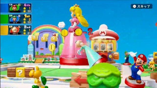 Die Amiibo-Party soll den Anschein eines realen Brettspiels mit Plastikfiguren und Pappaufstellern erwecken.